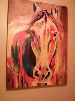 huge multicolored horse painting for Sale in Columbus, MS