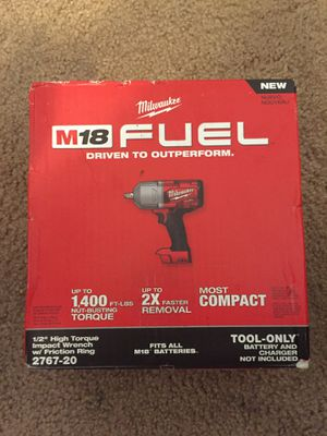Milwaukee m18 fuel 1/2 high torque impact wrench 2767-20 brand new ! $$220$$ for Sale in Vancouver, WA
