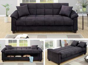 """Brand new 84"""" x 47"""" grey microfiber storage sofa futon for Sale in San Diego, CA"""