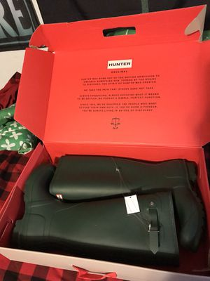 Hunter boots size 10 for Sale in Winfield, IL
