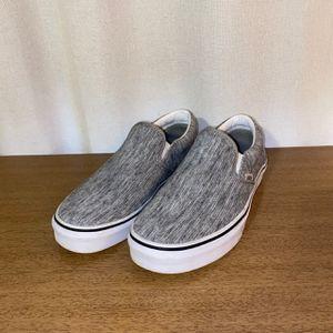 Vans slip-on grey rib & white skate shoes for Sale in Allen Park, MI
