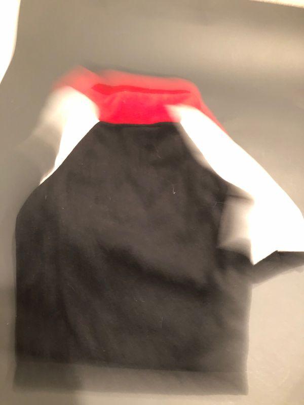 Large dog sweater red white black