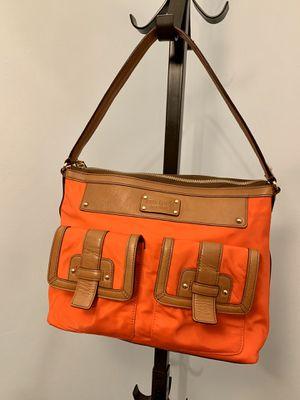 Kate Spade Bag (Orange w/ Brown Leather) for Sale in Alexandria, VA