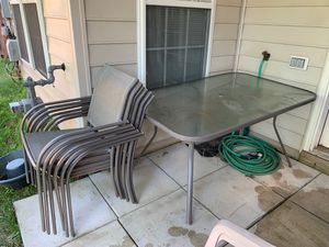 Outdoor furniture table and chairs for Sale in Ashburn, VA