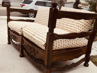 1930 s jamestown lounge feudal oak sofa, We changed the cushion cover. for Sale in Cypress,  CA