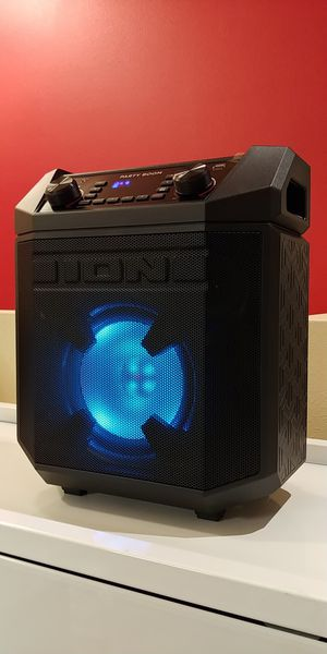 Ion Party Boom (IPA101) Wireless Bluetooth Portable Speaker, Glowing Woofer, 50hrs of Battery Life for Sale in Seattle, WA