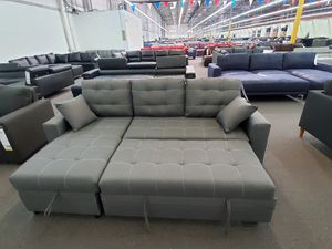 Pull out sofa bed ash black for Sale in Corona, CA
