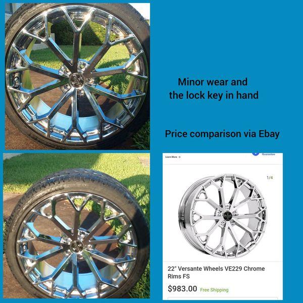 """22"""" Versante Wheels VE229 Chrome Rims (Full Set)"""