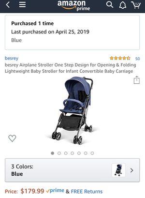 Besrey Airplane Stroller One Step Design for Opening & Folding Lightweight Baby Stroller for Sale in Bellevue, WA