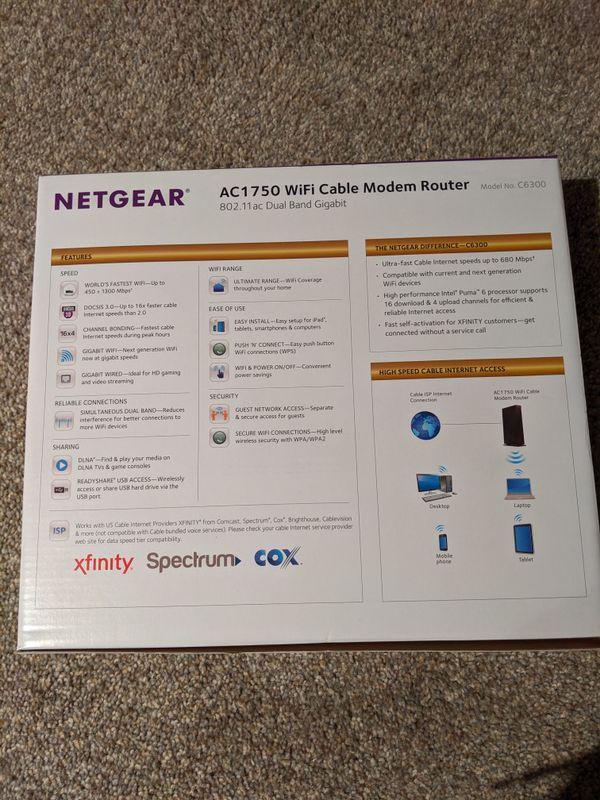 NETGEAR WiFi Modem Router 802.11ac Dual Band Gigabit