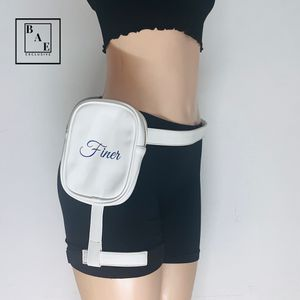 White Waist Bag with Adjustable and Removable Straps for Sale in Davie, FL
