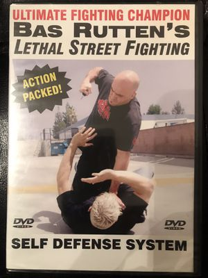 UFC,BAS RUTTEN'S LETHAL STREET FIGHTING --MMA SELF DEFENSE SYSTEM TRAINING.UFC WEIGHT WORKOUT for Sale in Las Vegas, NV