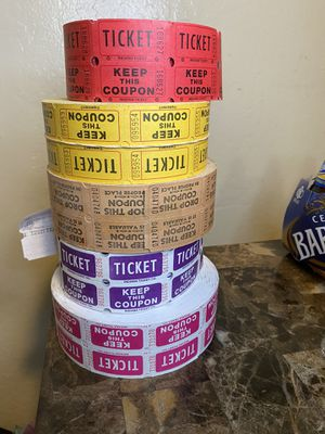 5 Ticket coupons rolls for Sale in West Sacramento, CA