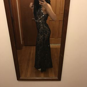 Navy blue lace prom dress for Sale in Gambrills, MD