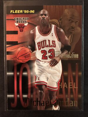 Michael Jordan 1995-96' FLEER Basketball Card. Air Jordan Chicago Bulls Basketball Trading Card INSERT 🔥 for Sale in Chicago, IL