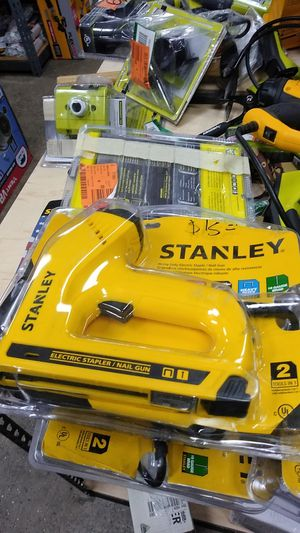 STANLEY HEAVY DUTY ELECTRIC STAPLE NAIL GUN for Sale in Moreno Valley, CA