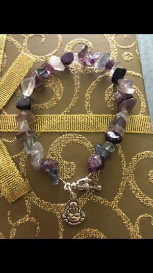 Genuine Amethyst and Agate Toggle Bracelet for Sale in Roy, WA
