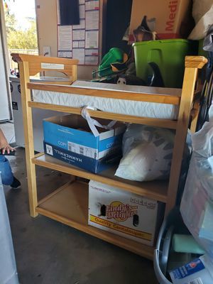 Changing table with mattress for Sale in Hesperia, CA
