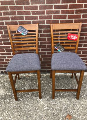 Two coaster counter height stools wood for Sale in Cherry Hill, NJ