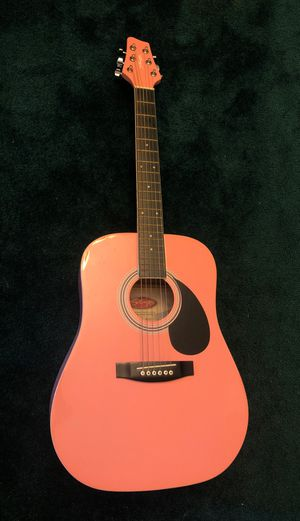 Stagg Pink Acoustic Guitar with Gig Bag for Sale in NO POTOMAC, MD