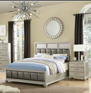 Queen 4pcs bedroom set / Closeouts liquidation for Sale in Riverside, CA