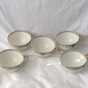 Vintage Theodore Haviland French Limoges Rare Porcelain Pattern Plate Tea Cups for Sale in Philadelphia, PA