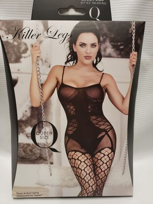 Fishnet Bodystocking queen attached fishnet new for Sale in Leawood, KS
