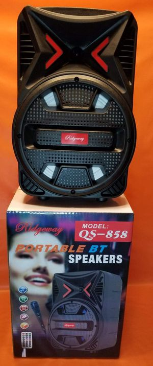 8 Inch New Bluetooth Speaker SD Card,Slot USB Port,FM Radio,Microphone Included For Karaoke ( Bosina ) Bz3 for Sale in March Air Reserve Base, CA