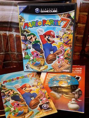 Mario Party 7 Nintendo GameCube Games 2005 Complete Case Disc Manual Video Game for Sale in Tampa, FL
