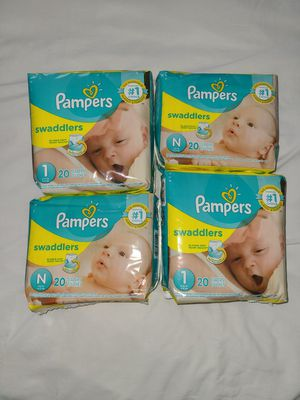 Pampers Swaddlers Baby Diapers for Sale in Grand Prairie, TX