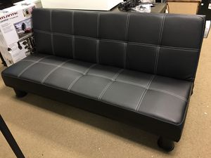 ZBD SALE- Venetian Worldwide Quinn Faux Leather Futon Sofa, Black for Sale in Duluth, GA