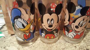 micky mouse minny mouse donald duck glassware for Sale in Auburn, WA