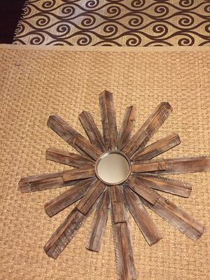 Solid wood Sunburst wall mirror for Sale in Fircrest, WA