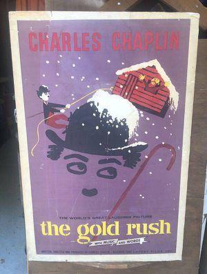 Charles Chaplin The Gold Rush Movie Poster for Sale in Atlanta, GA