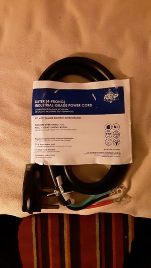 Dryer 4 prong industrial grade powder cord for Sale in Blacksburg, VA