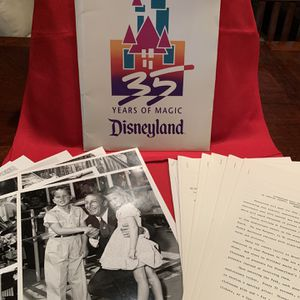 1990 Disneyland 35th Anniversary Press Kit includes 8 8x10 Glossy Photos and 8 Press Releases for Sale in Chandler, AZ