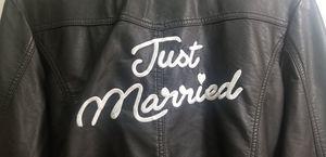 David's Bridal 'Just Married' Vegan Leather Moto Jacket for Sale in Glendale, AZ
