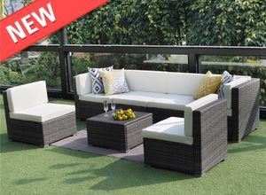 Modern 7PCS Outdoor Gray Wicker Sofa Sectional Furniture Set (Delivery via PayPal Invoice Only with Free Shipping) for Sale in Riverside, NJ
