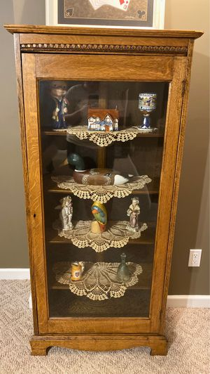 Antique Glass Front Cabinet for Sale in Acworth, GA