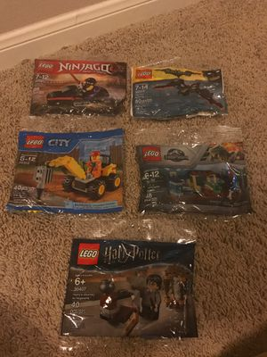 LEGO 5 Sealed polybags for Sale in Sugar Land, TX