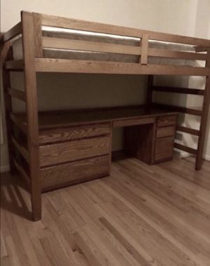 Custom Loft / Bunk Bed w/ desk and dresser for Sale in Inwood, WV