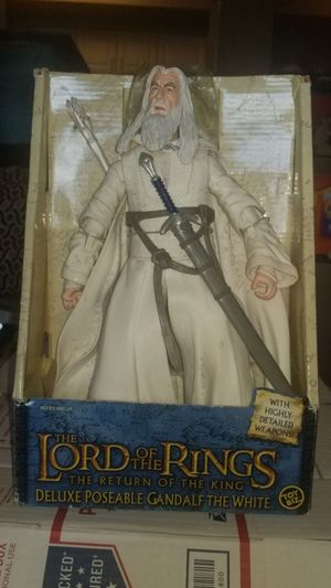 """Toy Biz Lord Of The Rings Return Of King Deluxe Poseable Gandalf The White 11"""" Figure. for Sale in Pasadena, TX"""