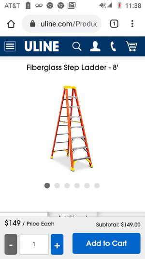 """8"""" Werner Fiberglass Step Ladder for Sale in Shoreline, WA"""
