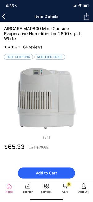 Brand new in box humidifier for Sale in Oak Forest, IL