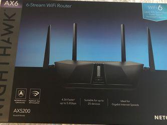 Netgear Nighthawk AX6 6-Stream AX4300 WiFi 6 Router for Sale in Manassas,  VA