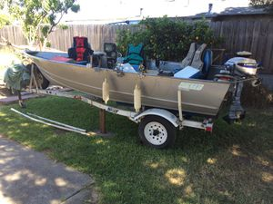 Gregor 14ft fishing boat. With extras for Sale in Fremont, CA
