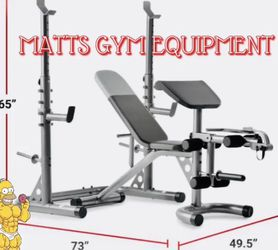 New Squat Rack And Adjustable Weight Bench Combo for Sale in Fort Lauderdale,  FL