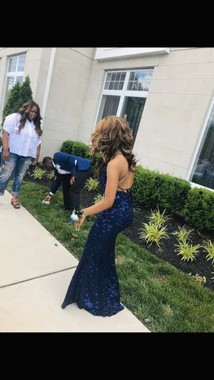 Navy blue sequin prom dress for Sale in Springfield Township, NJ