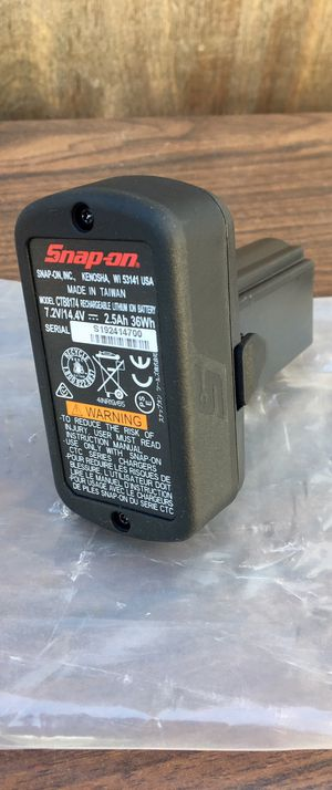 Snap on 14.4 V 2.5 Ah MicroLithium Battery 🔋 (((( $60 Firm )))) ❗️NEW ❗️ for Sale in Riverside, CA