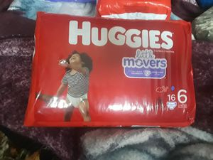 Huggies lil movers size 6 for Sale in Holiday, FL